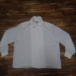 Karen Scott button front blouse 16w